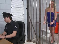 Blonde Prisoner Goes Hardcore With A Police Officer tube porn video