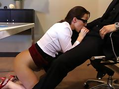 All, Blowjob, Brunette, Couple, Erotic, Glasses