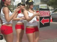 Marvelous Babes Act Naughty In The Middle Of The Street
