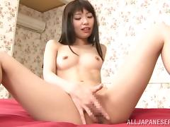 Lovely Minami Hirahara gets banged in her shaved pussy