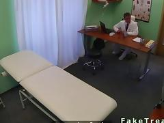 Doctor fucking a stunning babe in her cooch
