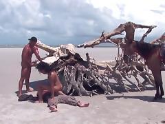 Beach, Anal, Beach, Brazil, Group, Orgy