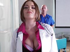 Doctor Krissy Lynn is fucked by one of her lucky peers porn tube video