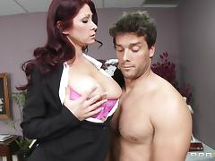 Rough sex in the office with the busty redhead milf Tiffany Mynx porn tube video