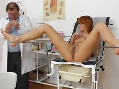 Sexy redhead Lucy Bell and her personal doctor