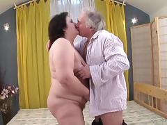 Bad Grandpa Getting His Horny Cock Licked And Stroked