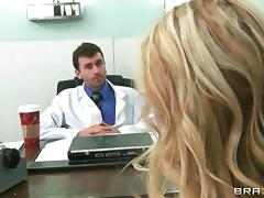 Devon gets her butt toyed and fucked from behind by a doctor