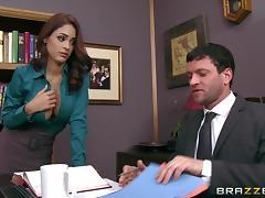 Jasmine Caro And Preston Parker Go Really Hardcore In An Office