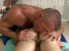 Trace Michaels massages and fucks Ari Sylvio in the ass tube porn video