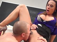 Slender teacher is being fucked very hard