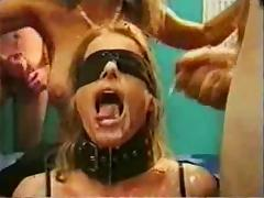 Blindfolded, Amateur, BDSM, Blindfolded, Bukkake, Slave