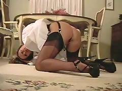 Leg tease in black ff nylons