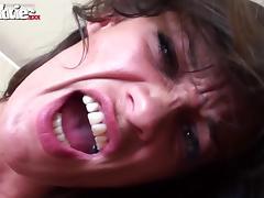 brunette slut goes wild on cock porn tube video
