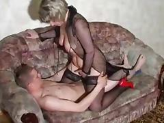 Mom and Boy, 18 19 Teens, Mature, Old, Russian, Stockings