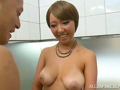 Naughty hot milf Michiru Ogawa gets 69 and anal