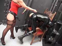 Sharon da Vale Mistress vs Rubberslave(s) III  Strapon porn tube video
