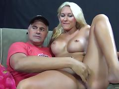 Very Sexy, Blonde Cougar With Big, Fake Tits Enjoying A Hardcore, Anal Fuck