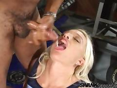 Pretty Abata Gets A Cumshot Inside Her Mouth In The Gym