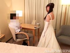 Asian Bride Gets One Last Fuck