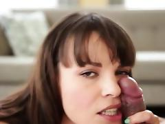 Bitch gets face fucked gagging on cock