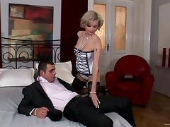 Curly blondie Tarra White gets punished by tattooed jock