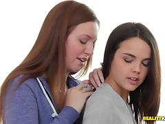 Maddy Oreilly and her GF lick each other's assholes in lesbian action