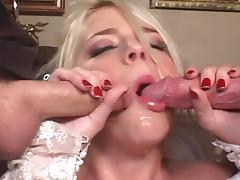 Bride, Anal, Bed, Blonde, Blowjob, Bride