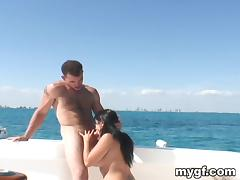 Boat, Big Cock, Blowjob, Boat, Brunette, Couple