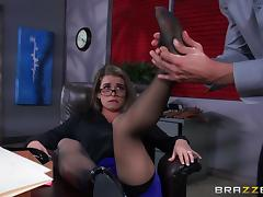 Hot Girl In Glasses Fucked In The Office