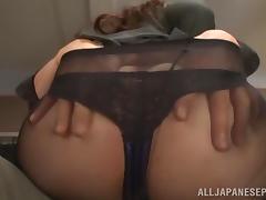 Yua Kuramochi Asian hottie fucked in the office