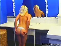 Ardent rear banging scene in the bathroom with busty Veronika Hanakova