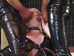 Blowjob, Blonde, Blowjob, Group, Leather, MMF