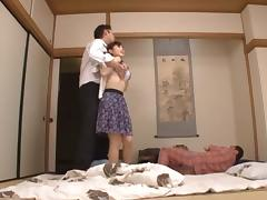 Housewife Yuu Kawakami Fucked Hard While Another Man Watches tube porn video