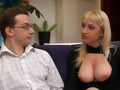 The lady loves anal