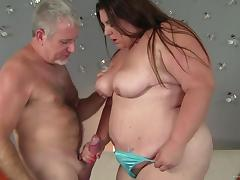 Horny fattie Bella Bendz gets her meaty cunt pounded by an old guy