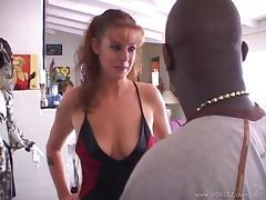 Hardcore interracial scene with Rachel Rains enjoying ardent banging
