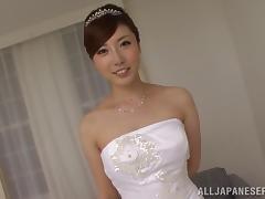 Bride, Asian, Blowjob, Bride, Cum in Mouth, Cumshot