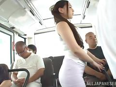 Chunky, Asian, BBW, Blowjob, Bus, Chubby