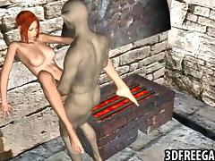Cartoon, Blowjob, Cartoon, Redhead