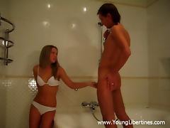Bathing, Amateur, Bath, Bathing, Bathroom, Bra
