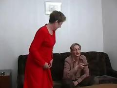 Ugly granny gets banged by a young dude