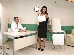 Curvy milf Sensual Jane gets seduced and fucked by a lewd doctor
