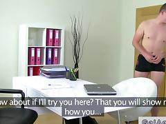 Assistant fucks female agent POV real hard