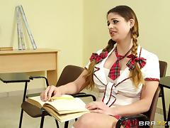 Teacher, Angry, Babe, Big Tits, Bra, College