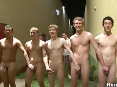 A few salacious twinks enjoy ardent group banging at a party