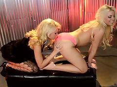 Lesbian action with blonde bombshells Katie Summers and Britney Amber