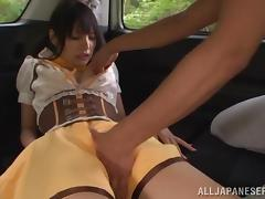 Asian tramp Miyuki Yokoyam blows and gets fucked in a car porn tube video