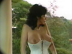 Hot brunette perfect tits