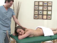 Bootyful goddess Dani Daniels gets massaged and punished tube porn video