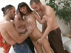 Jami Jay is nailed by big cocks in gangbang scene